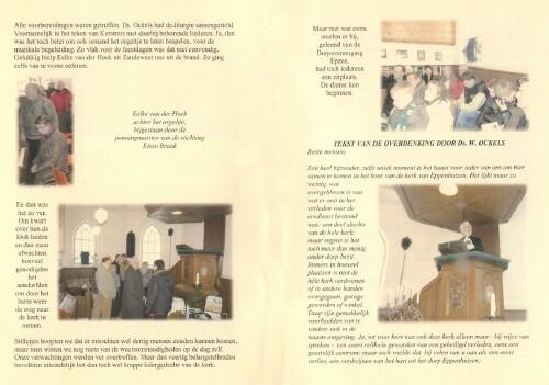 Inhoud boekje kerkdienst